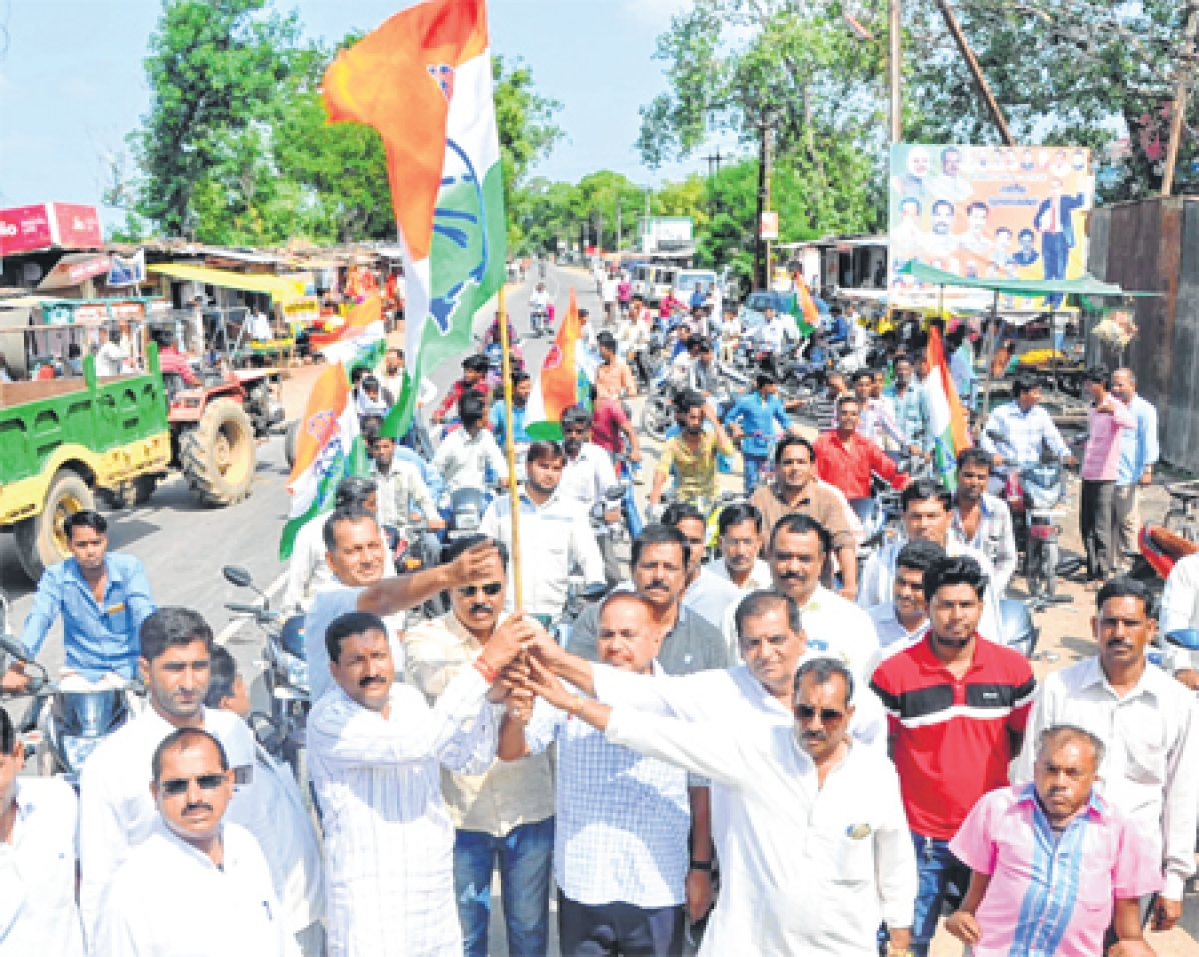 Congress  takes out kisan yatra in rural areas