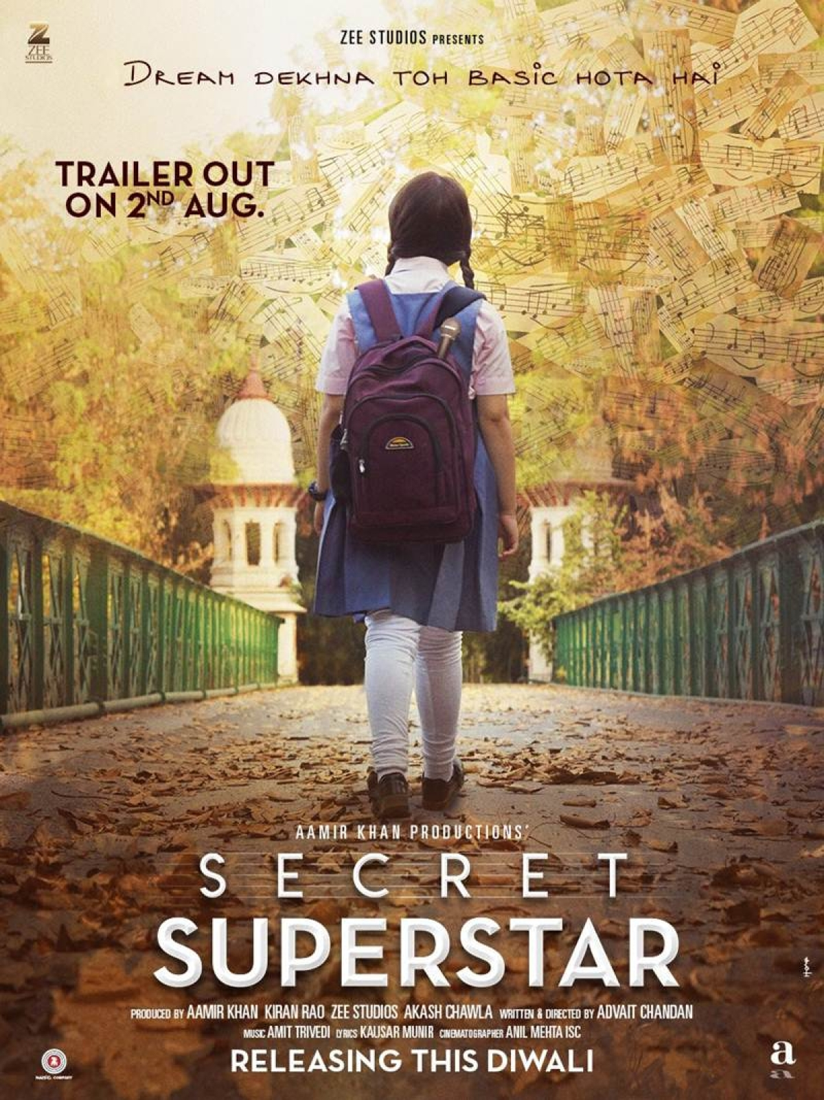 Aamir Khan shares first poster of home production 'Secret Superstar'