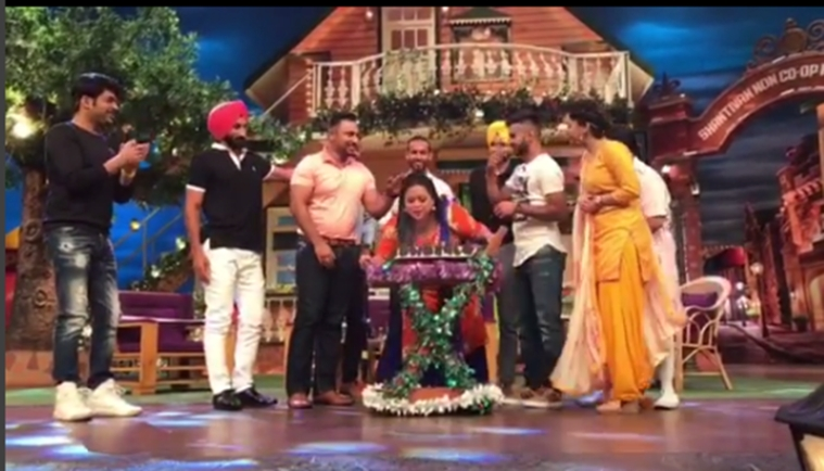 In pics: Birthday girl Bharti Singh cut her first cake on the sets