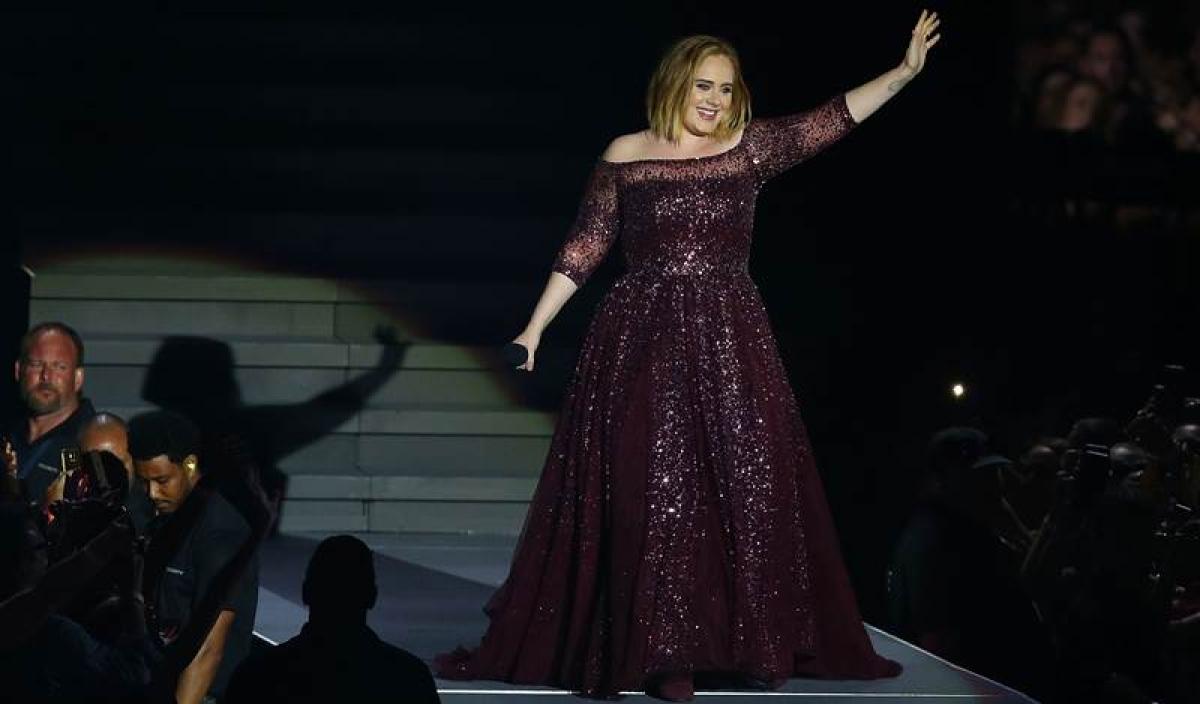 Adele's Wembley dress took 500 hours to make