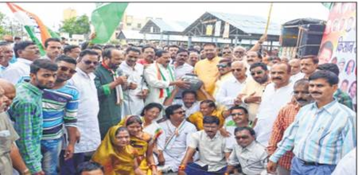 Ujjain: Congress protests against govt with kisan swabhiman rally