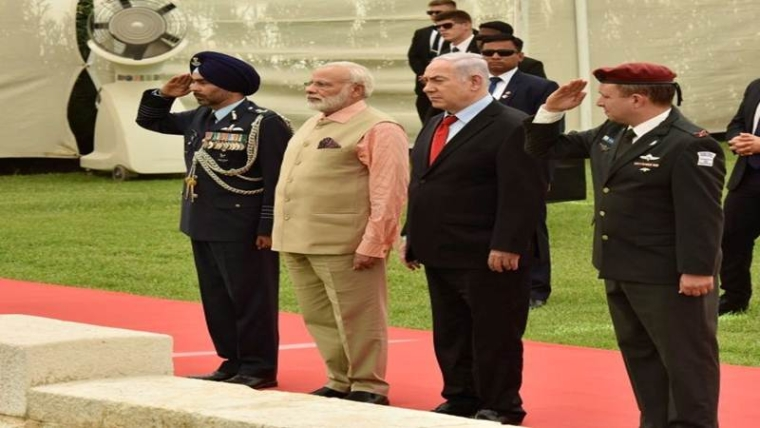PM Modi, Netanyahu pay homage to Indian soldiers at Haifa Cemetery