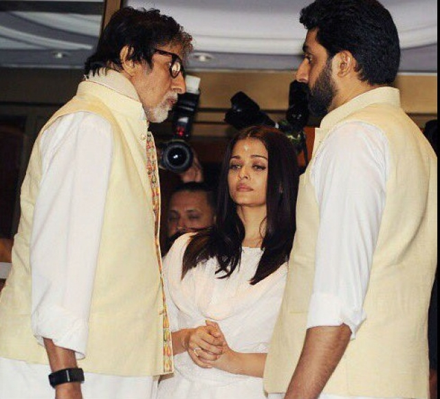Pic of Aishwarya visiting Allahabad with Abhishek, Aaradhya to immerse father's ashes goes viral