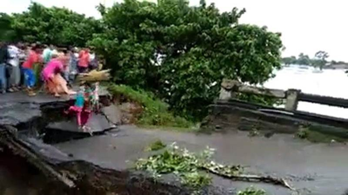 Tragic video: Three of family washed away in Bihar floods as bridge collapses