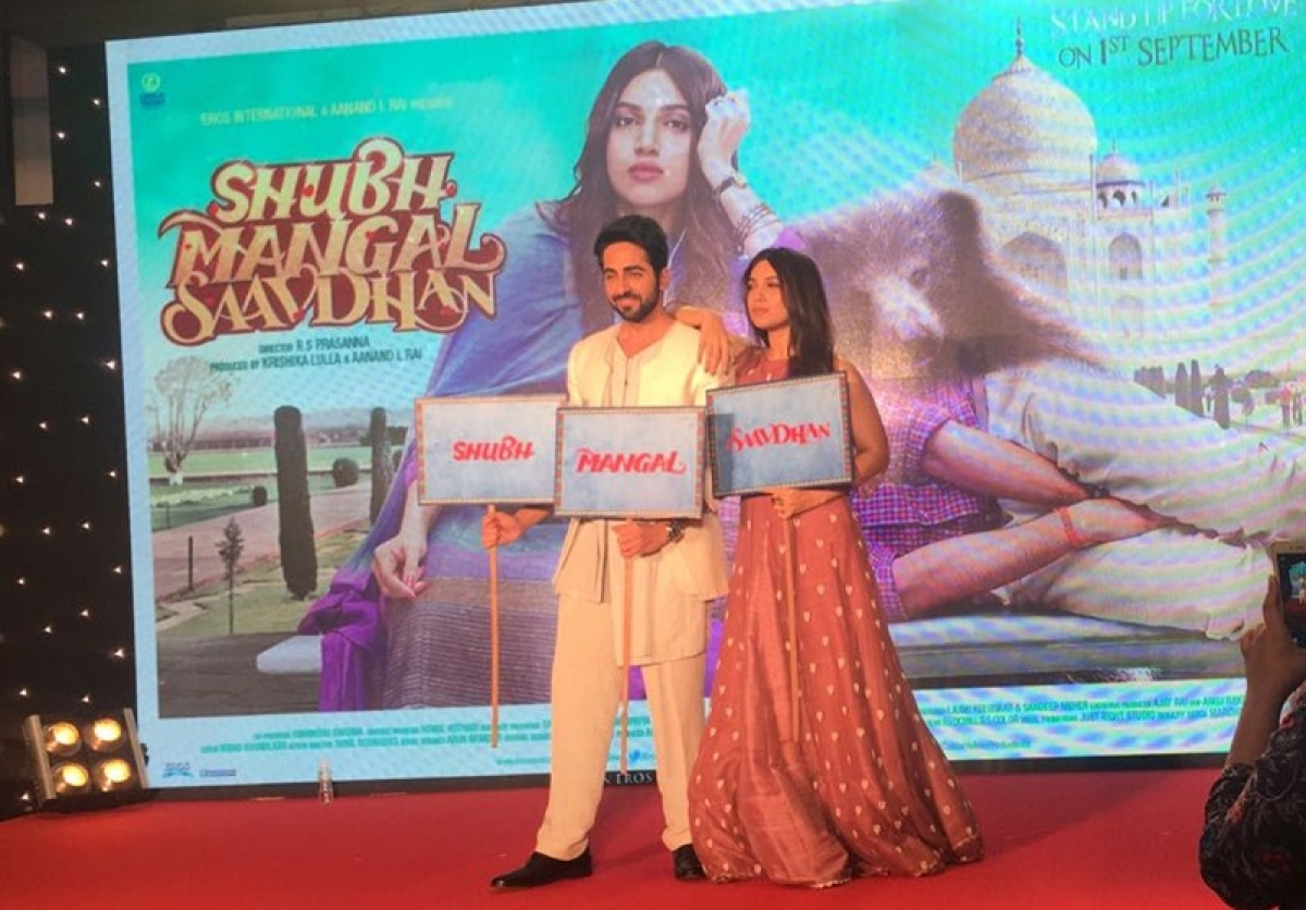 Shubh Mangal Savdhan trailer launch in pictures: Ayushmann, Bhumi madly in love with each other