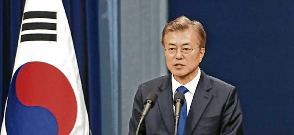 S Korea President Moon urges calm on North, says war unthinkable