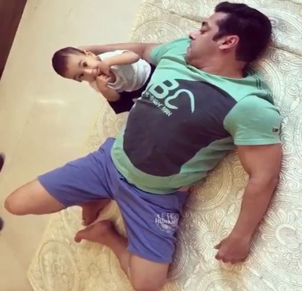 CUTE! Salman Khan seen rolling on the floor with nephew Ahil