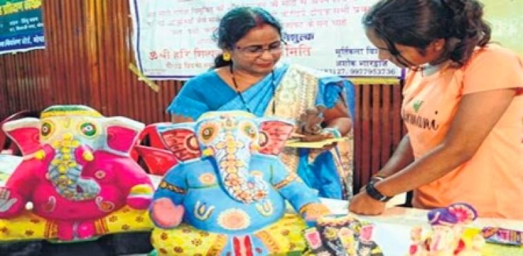 Bhopal: Workshop on eco-friendly Ganesha idols concludes