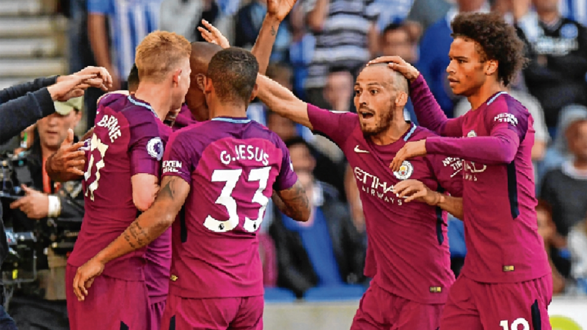 Manchester City begin EPL season with 2-0 victory over Brighton