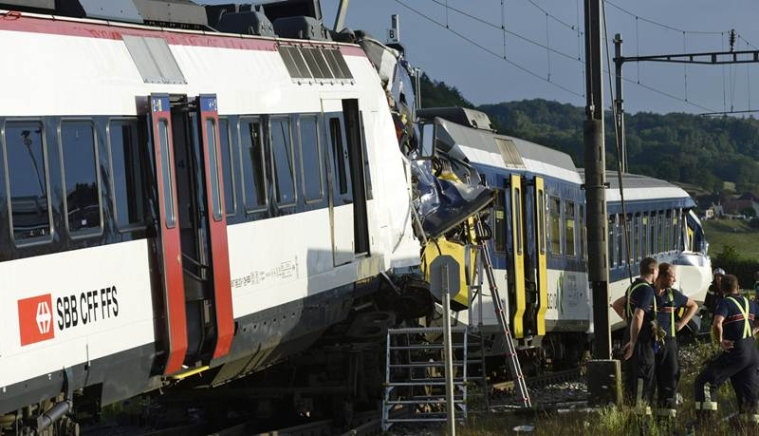 30 injured in train accident in Swiss Alps: police