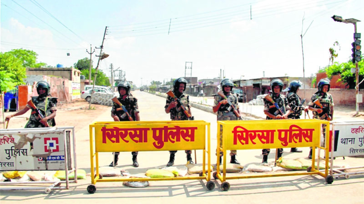 Security tightened ahead of hearing in 2 murder cases against Dera head