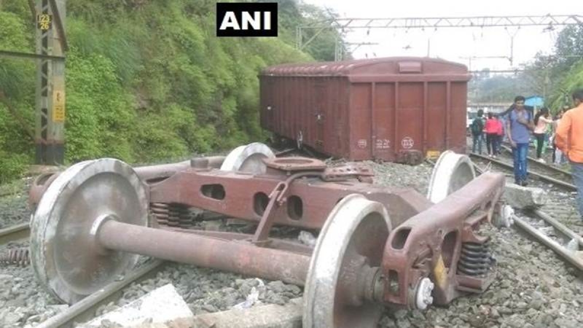 Maharashtra: Two coaches of goods train derails near Khandala; 3rd derailment in one day