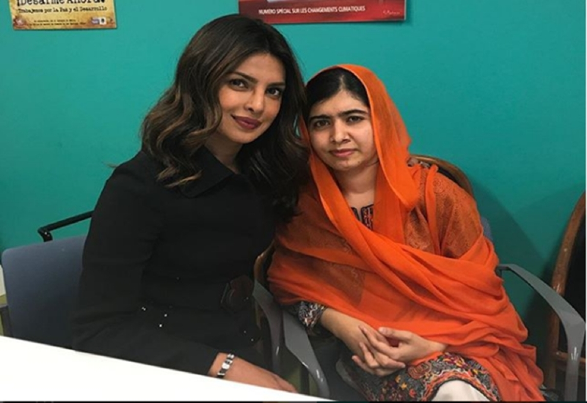 Priyanka Chopra shares picture with Nobel Peace Laureate Malala Yousafzai
