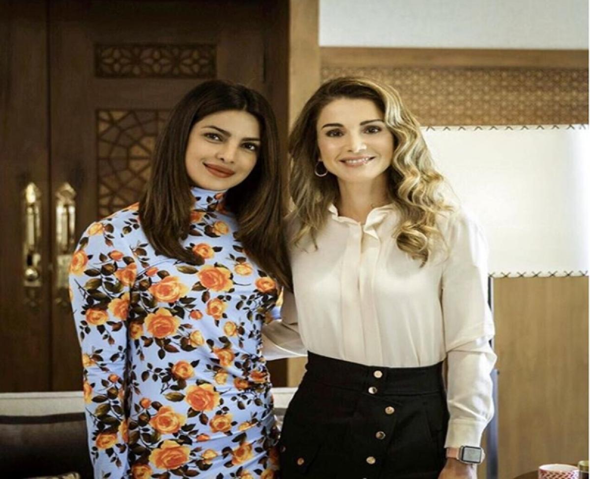 Priyanka Chopra honoured to meet Queen Rania of Jordan