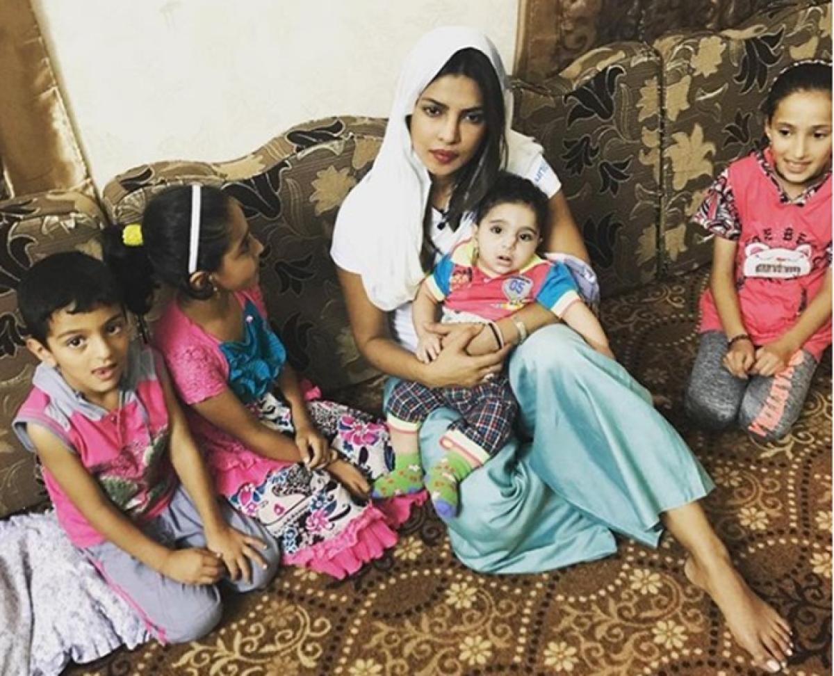 UNICEF ambassador Priyanka Chopra spends time with kids in Jordan, shares pics; gets trolled