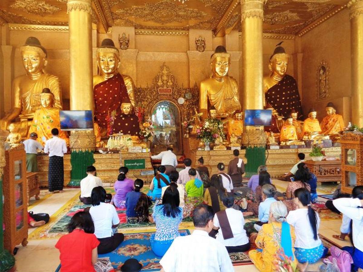 Burmese are devout Buddhists