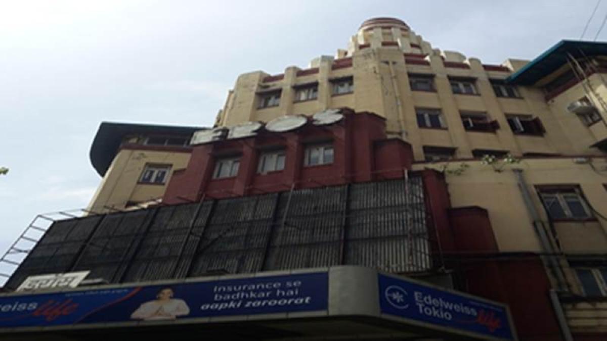 Eros Cinema located near the Churchgate Station Photo by: Kalyani Majumdar