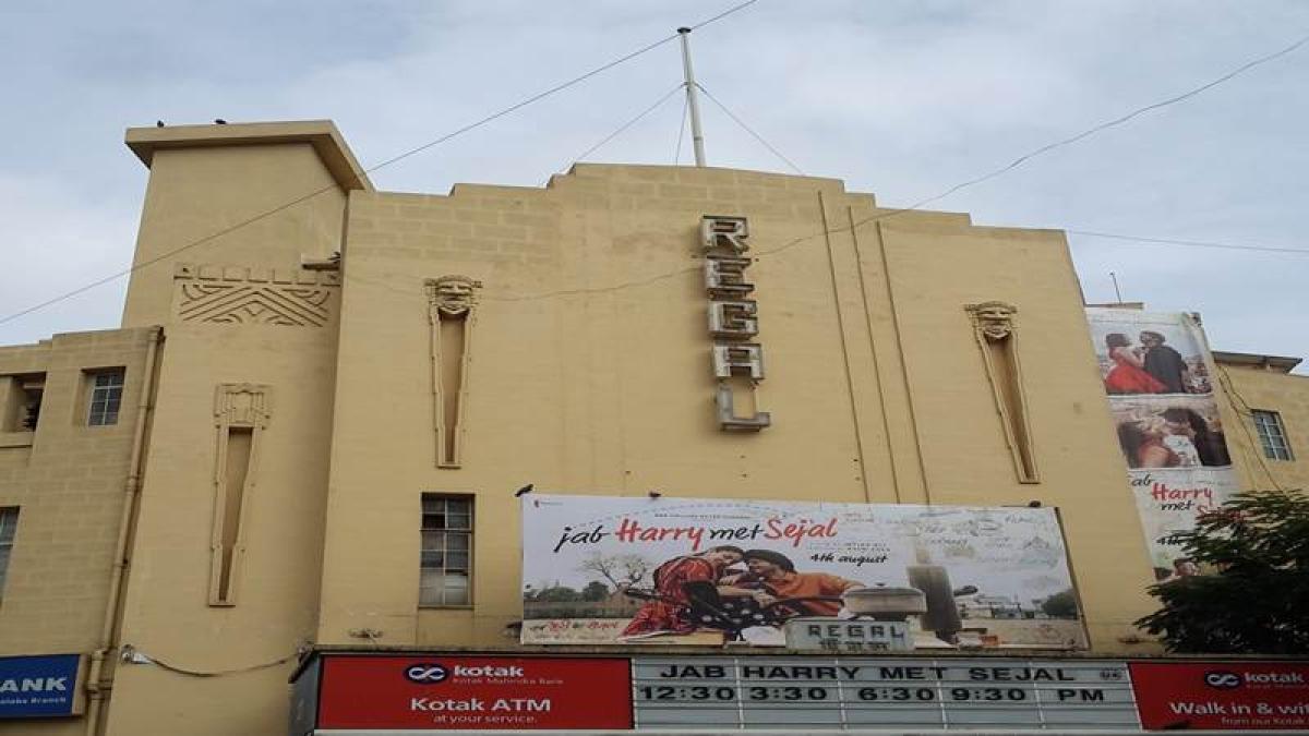 The decorative motifs on the façade of the Regal Cinema Photo by: Kalyani Majumdar