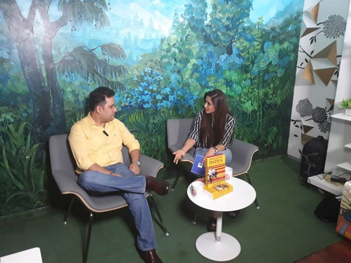 Sonali Bendre conducts her second masterclass with author Amish Tripathi!