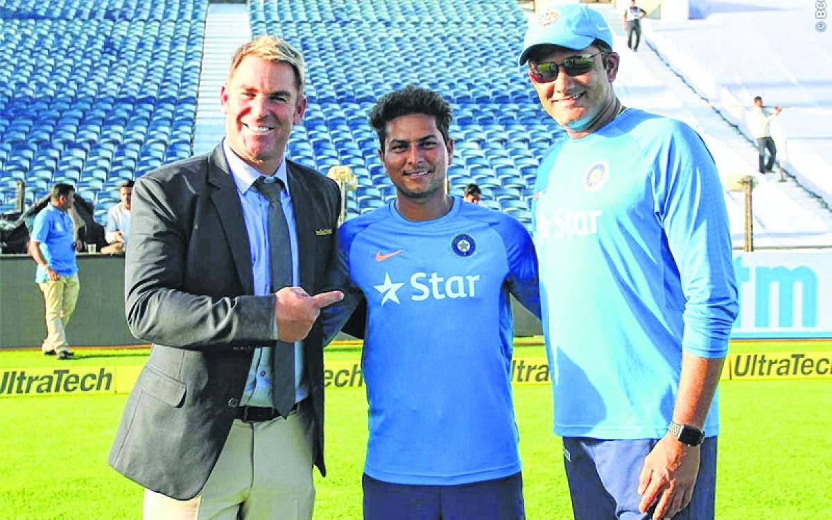 Kuldeep Yadav can challenge Yasir, says Shane Warne