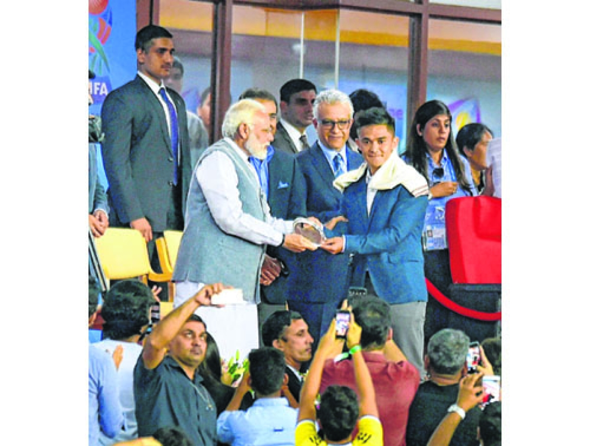 India's football greats felicitated