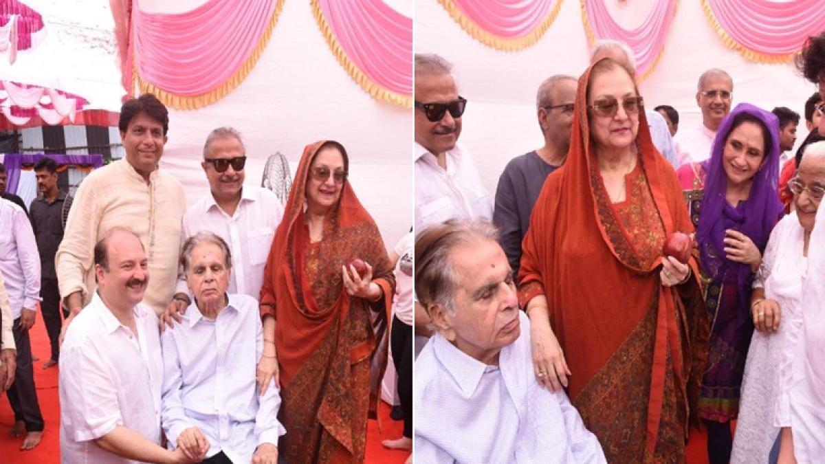 Dilip Kumar and Saira Banu celebrate 51st wedding anniversary; must-see pics