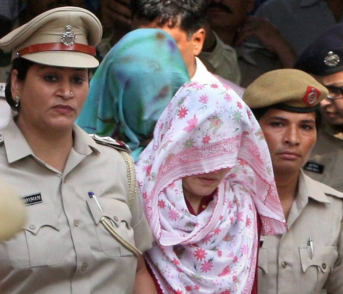 Honeypreet Insan being questioned at Panchkula Police Station