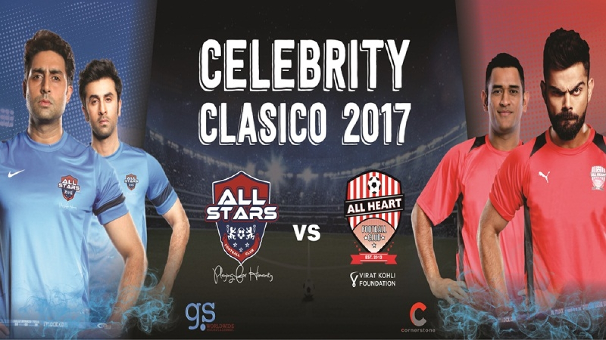 Men of Bollywood to take to field for charity football match