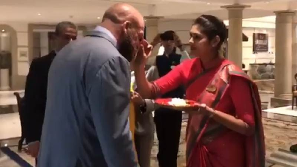 Triple H in India: WWE superstar arrives in Mumbai to traditional welcome, watch video