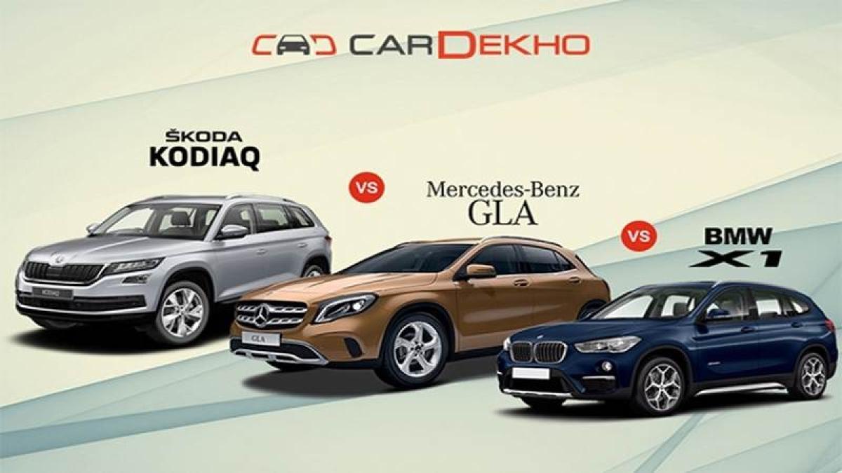 Skoda Kodiaq Vs Mercedes-Benz GLA Vs BMW X1- Spec Comparison