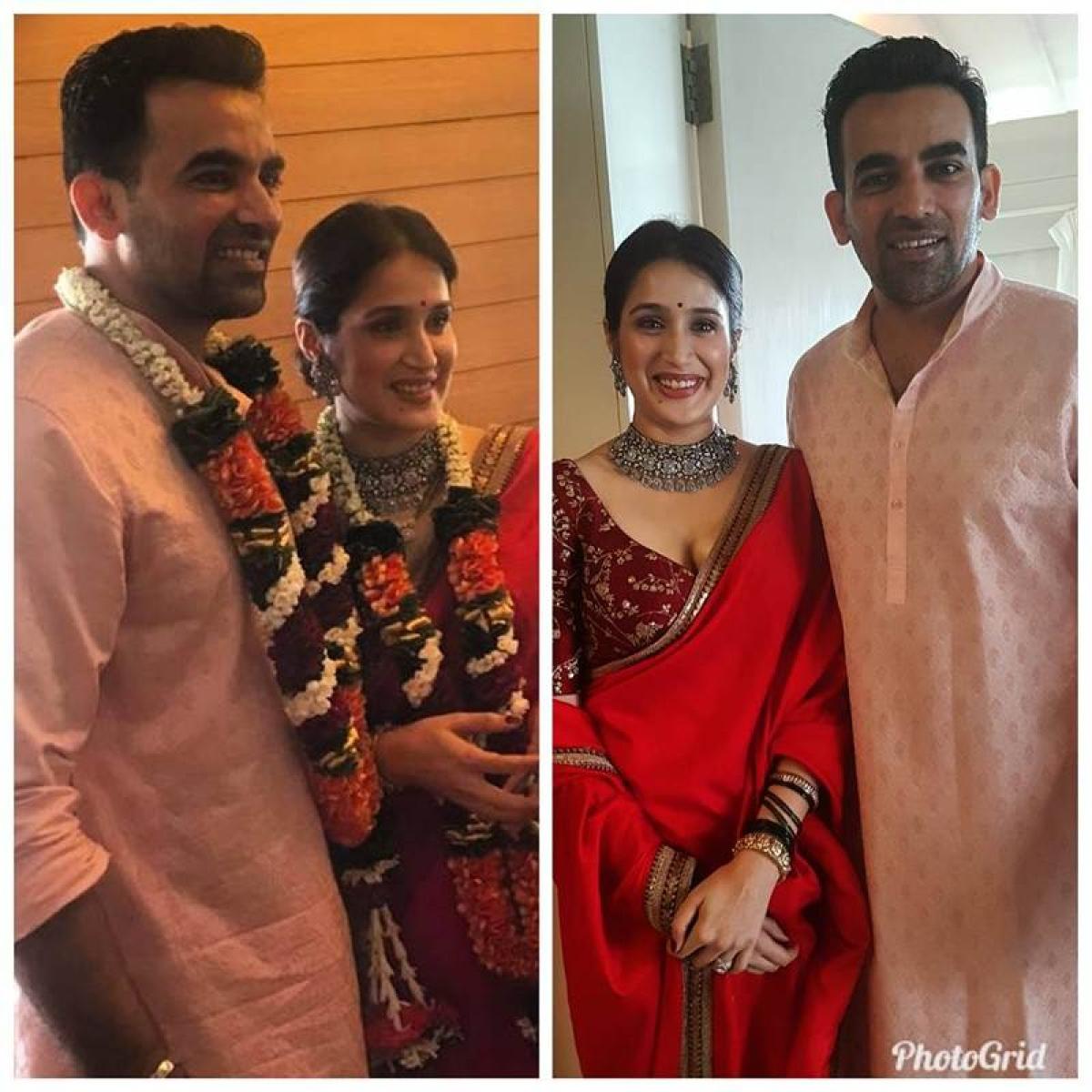 Wow! Zaheer Khan, Sagarika Ghatge get hitched; see pics of newly-married couple