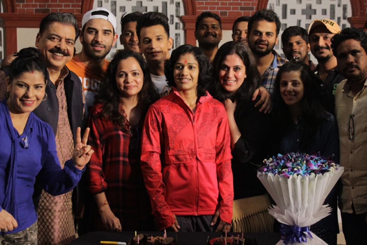 In Pics: Babita Phogat celebrates birthday with Badho Bahu cast