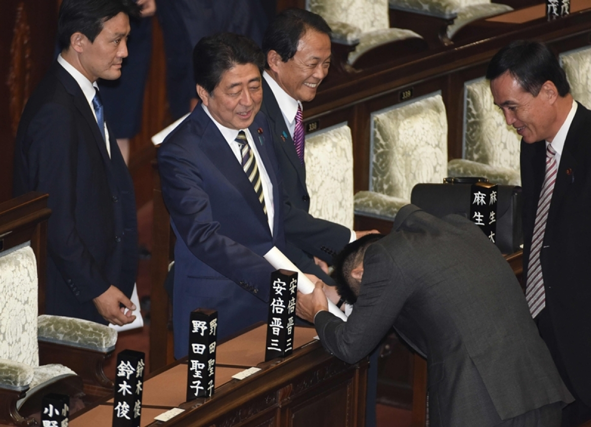 Shinzo Abe re-elected as Japanese Prime Minister