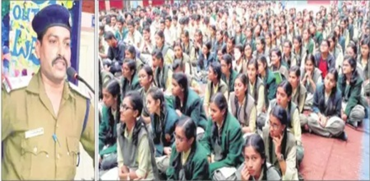 Indore: Students learn nitty-gritty of police force