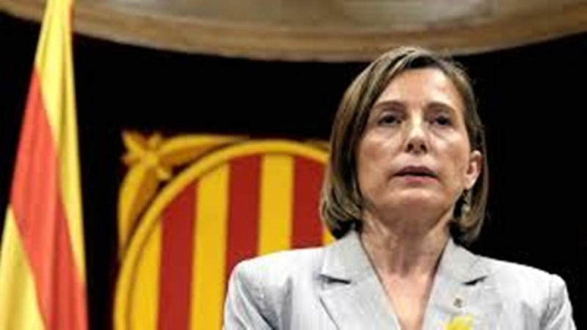 Catalan parliament speaker Carme Forcadell detained pending bail