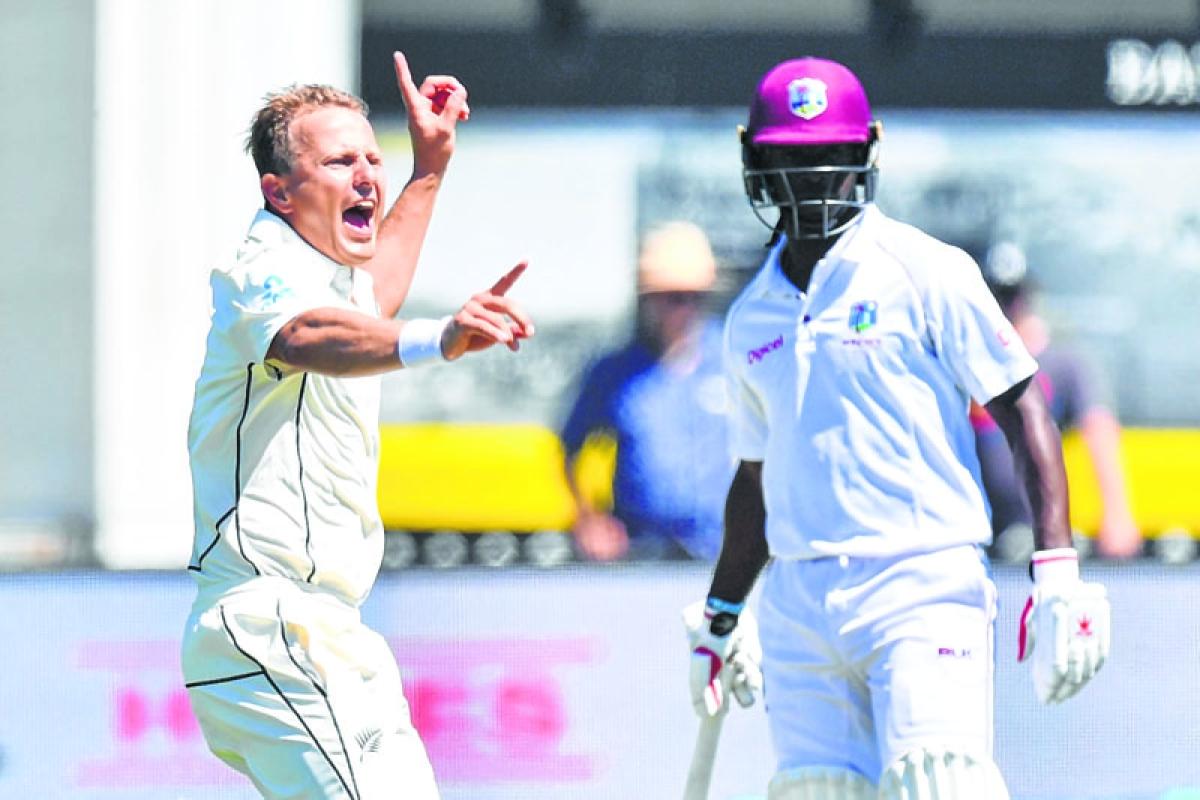 Windies reeling from Wagner's seven-wicket barrage in 1st Test