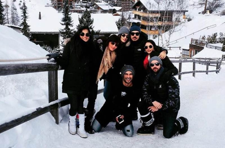 In pictures: Sushant Singh Rajput-Kriti Sanon are on vacation in Alps
