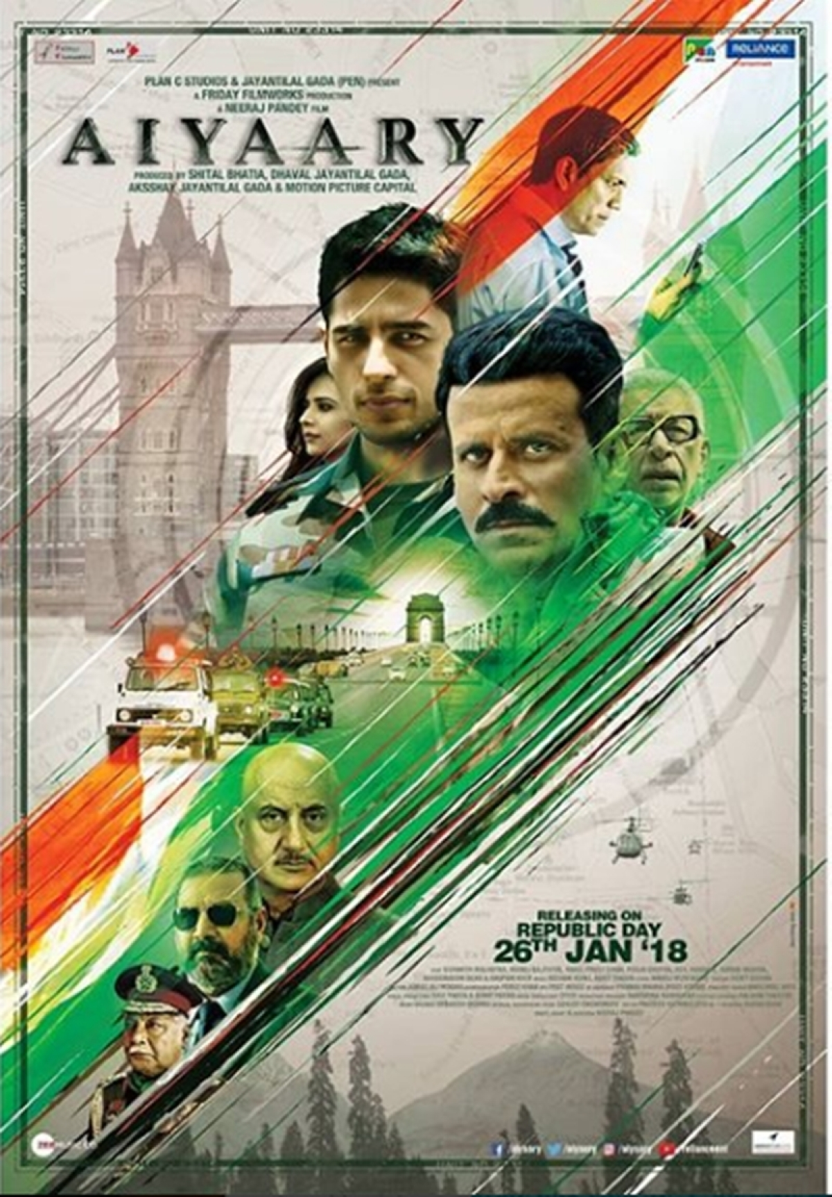 First look: Manoj Bajpayee and Sidharth Malhotra's 'Aiyaary' is a tribute to brave soldiers