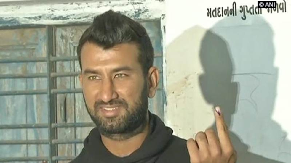 Guajrat Assembly Elections 2017: Cheteshwar Pujara casts his vote, asks youngsters to exercise their franchise