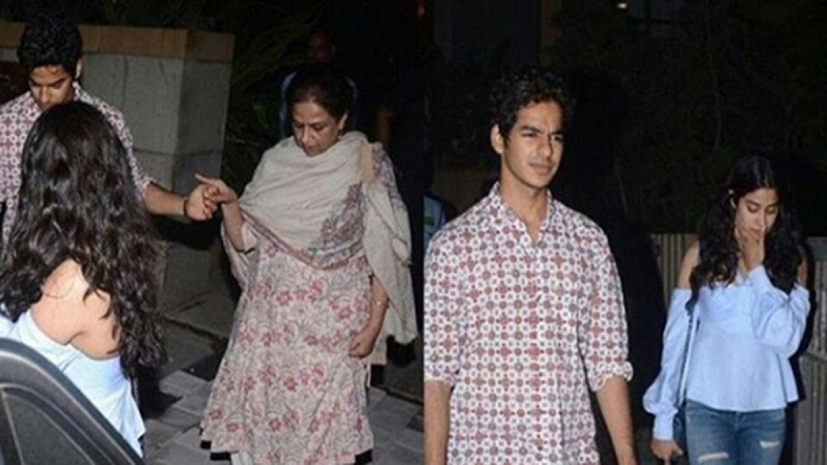 'Dhadak' stars Janhvi Kapoor and Ishaan Khaatar spotted together at Shahid Kapoor's residence for dinner in Mumbai