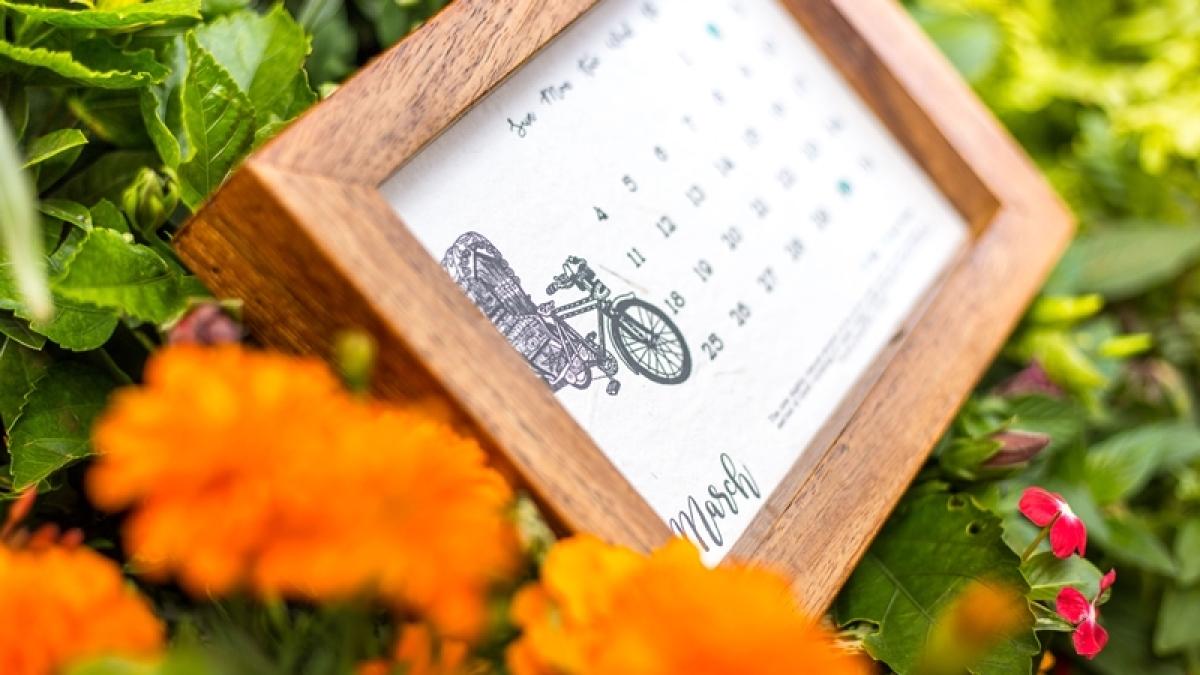 In 2018 get a calendar that grows into a garden!