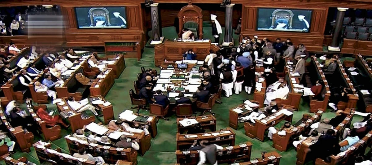 Lok Sabha speaker suspends 7 Cong MPs for Budget session