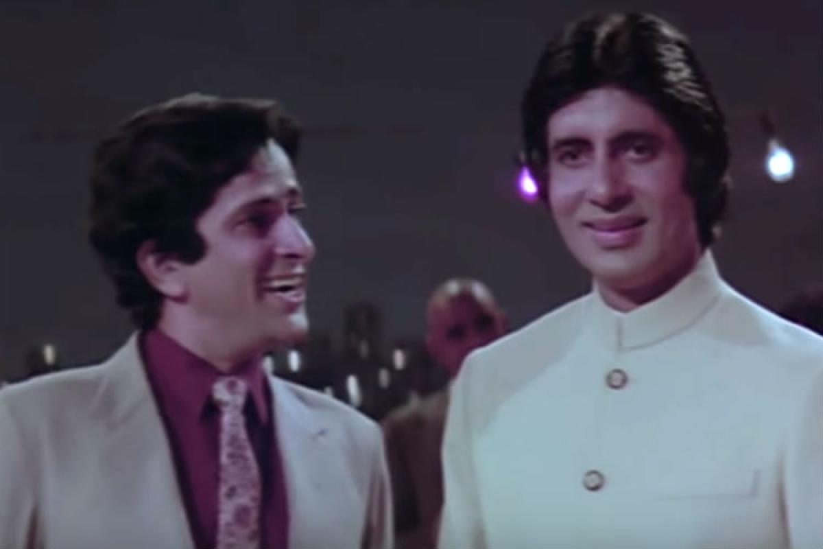 <strong>Amitabh Bachchan and Shashi Kapoor in Namak Halaal</strong>