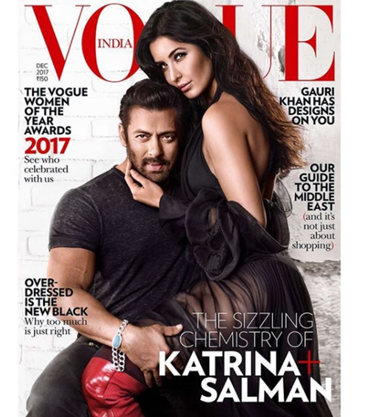 Check out! Tiger Salman and his tigress Katrina's hot and sizzling chemistry on Vogue's cover