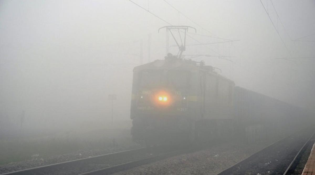 Low visibility disrupts train services in Delhi