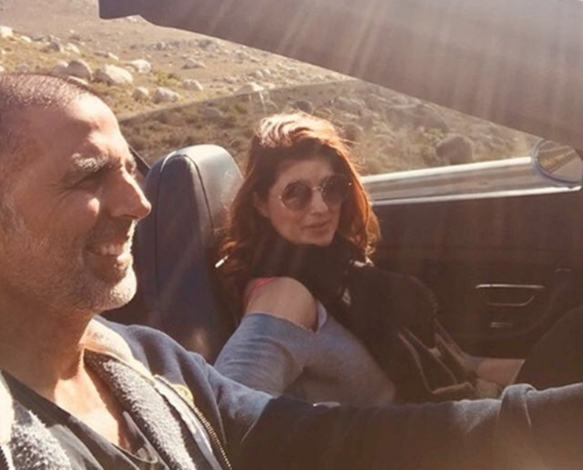 Twinkle Khanna turns 43: Akshay Kumar takes his lady love on a long drive on her birthday; see pic