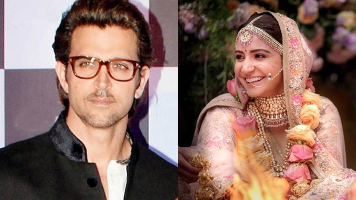 Hrithik Roshan and Anushka Sharma