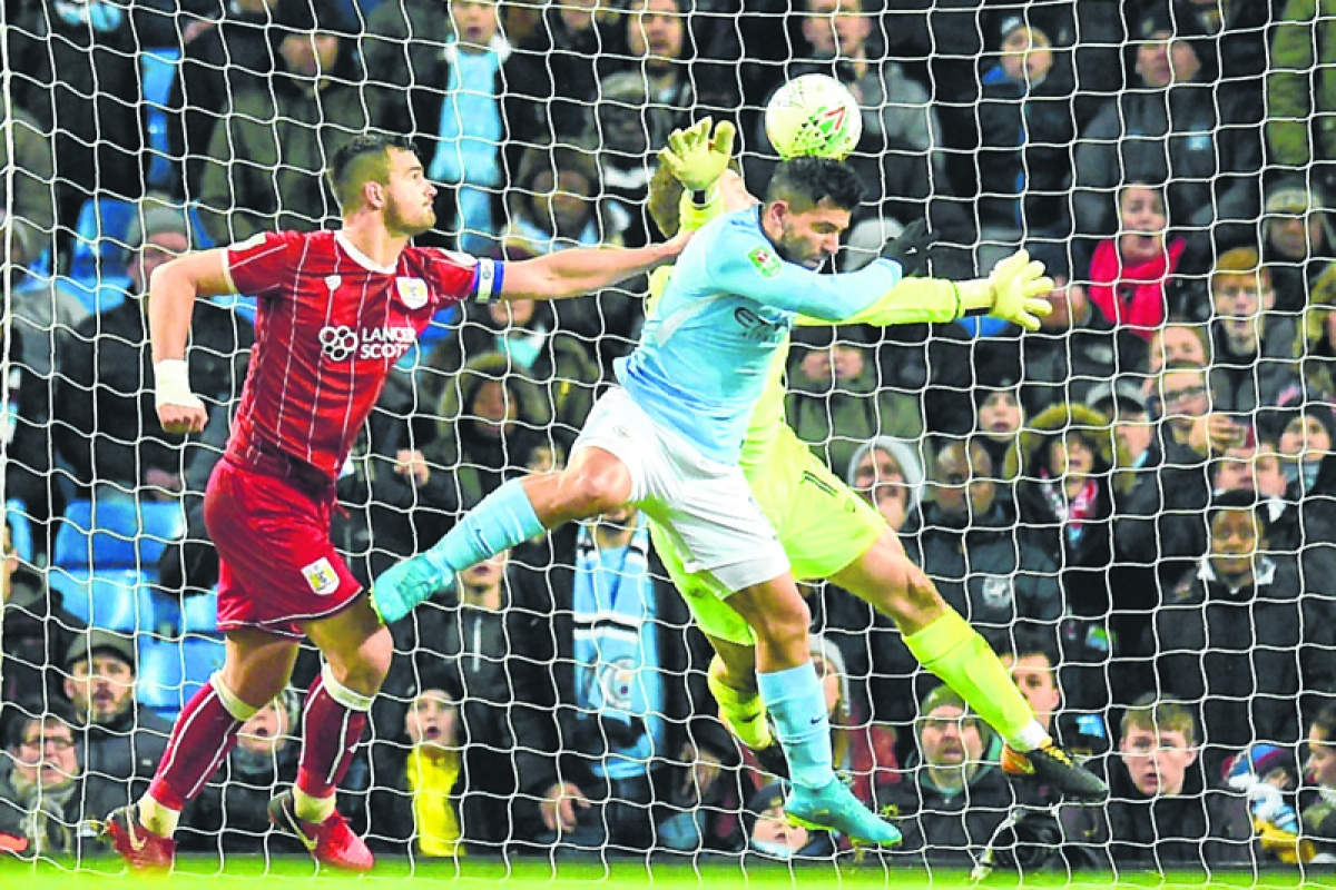 Aguero saves the day for Man City against Bristol