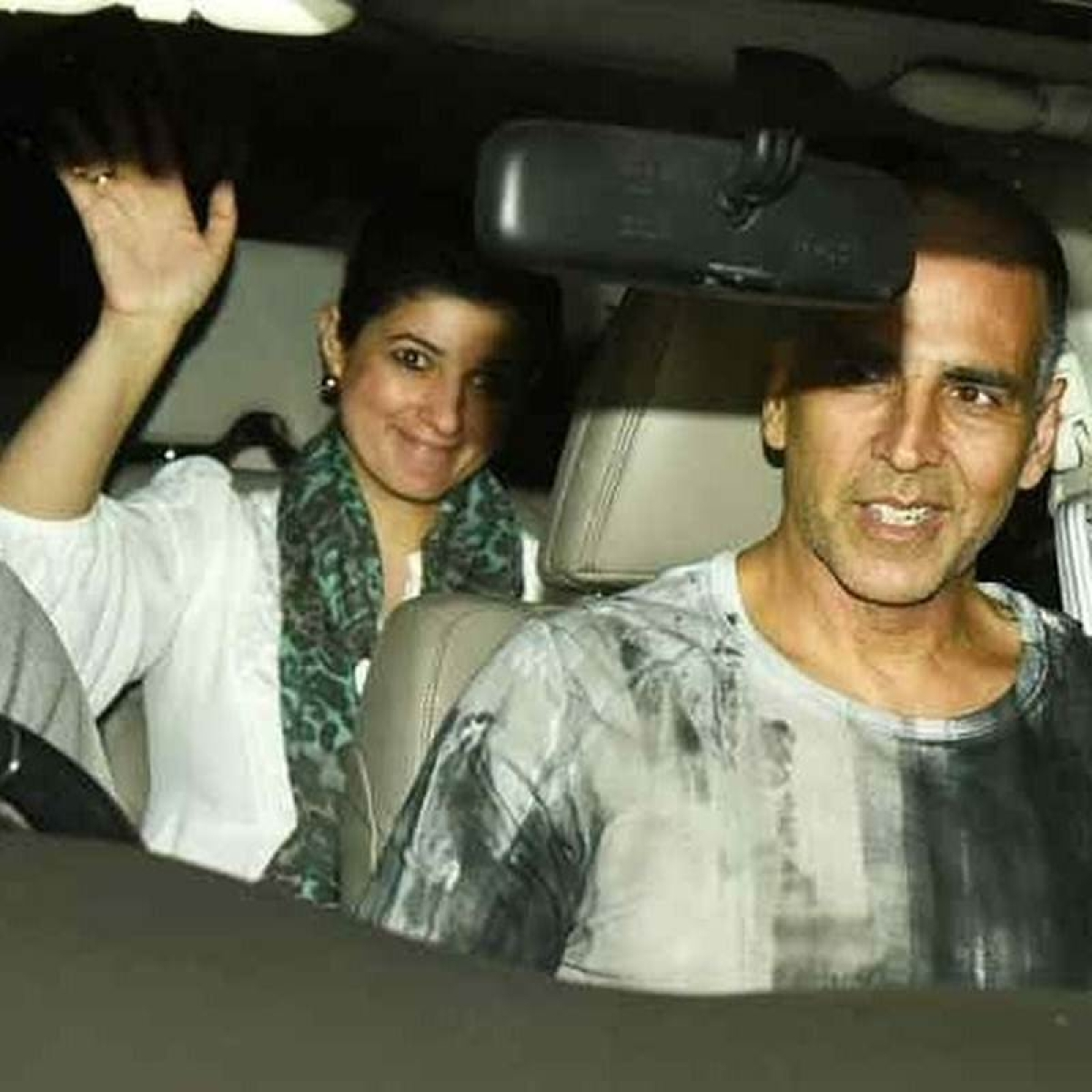 See pics: Akshay Kumar, Twinkle Khanna and their son Aarav attend special screening of 'PadMan' in Mumbai