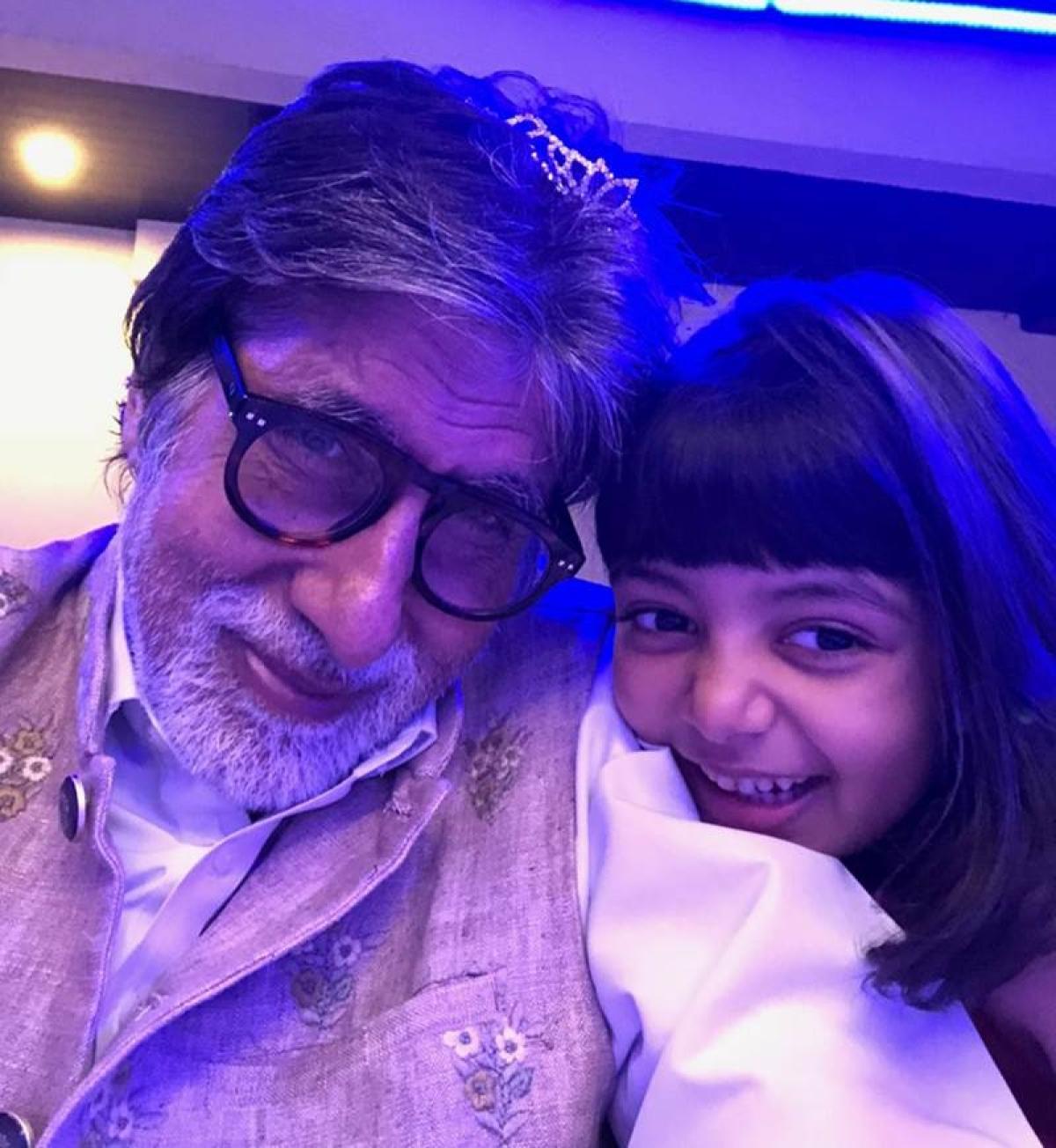 See pics: Amitabh Bachchan celebrates New Year with his granddaughters Aaradhya, Navya Naveli Nanda